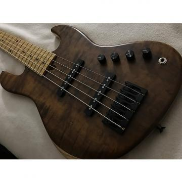 Custom Roger Bass 5 String Jazz Bass 2015 Natural w/Mono Slim Bag
