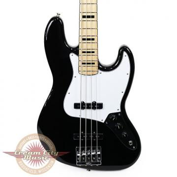 Custom Brand New Fender Geddy Lee Jazz Bass with Maple Fingerboard in Black Demo