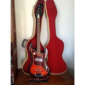 Custom 1967 Harmony H-25 Bass Super Clean , 1 Owner, With OSSC And Strap Redburst Collector Grade
