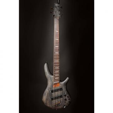 Custom Ibanez SRFF805BKS SR Soundgear 5-String Fanned Fret Electric Bass Guitar Black Stained