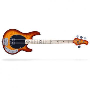Custom Sterling by Music Man Ray34 Quilt Maple 4-String Bass Guitar Honey Burst w/ Bag
