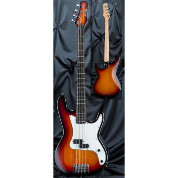 Custom Kiesel Carvin PB4 4 String Bolt Neck Classic Electric Bass Guitar 2017 Translucent Classic Sunburst