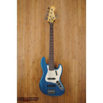 Custom Nash Guitars JB-5 Bass Lake Placid Blue