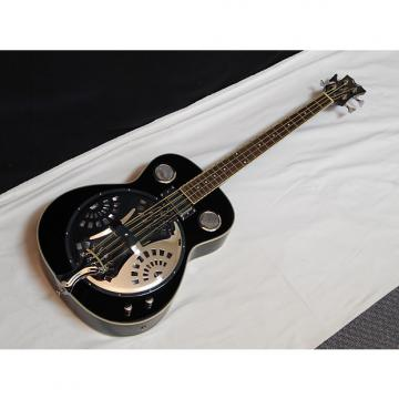 Custom DEAN Resonator Bass 4-string acoustic electric BASS guitar NEW Classic Black - B