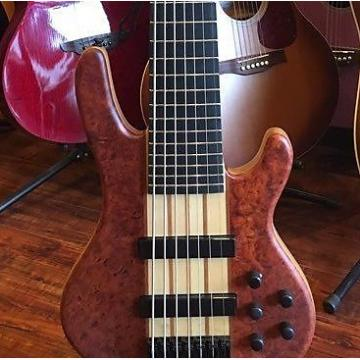 Custom Wolf 7 String Bass Neck-Thru SE Quilted Bubinga 1/4 w/ SKB Universal Case