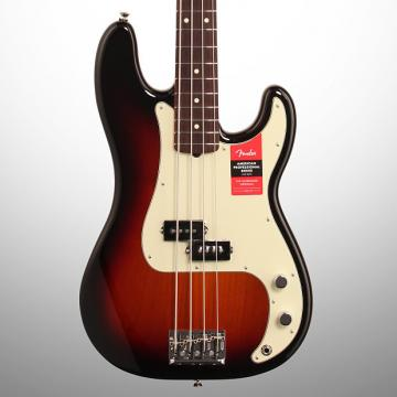 Custom Fender American Pro Precision Electric Bass, Rosewood Fingerboard (with Case), 3-Color Sunburst