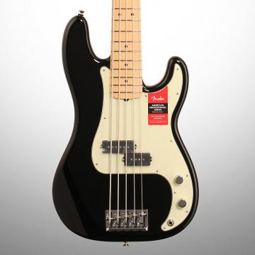 Custom Fender American Pro Precision V Electric Bass, 5-String, Maple Fingerboard, (with Case), Black