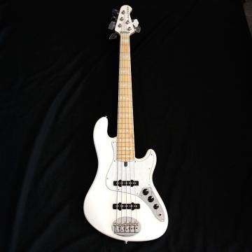 Custom Lakland Skyline DJ5 White 5 String Darryl Jones Signature Bass