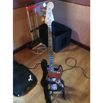 "Custom Fender American Vintage ""V"" Series Jazz Bass (stack-knob) 1989 Nitro Black w correct Tobacco Pickguard"