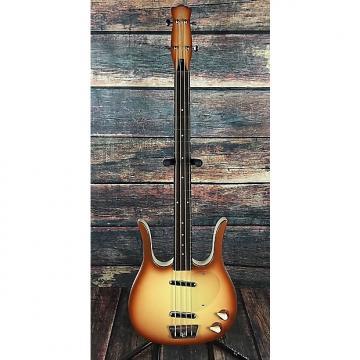 Custom Danelectro Longhorn short scale bass Copperburst with gig bag
