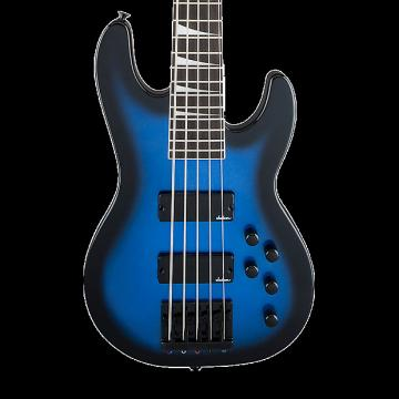 Custom Jackson JS Series Concert Bass JS3V 5-String Bass - Metallic Blue Burst