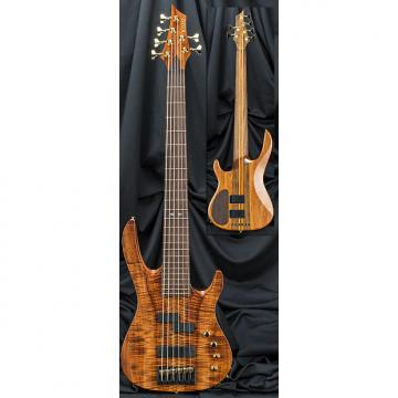 Custom Kiesel Carvin X64 Xccelerator 6 String Electric Bass Guitar 2017 Bookmatched Flamed Koa Top w/ Case