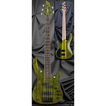 Custom Kiesel Carvin X54 Xccelerator 5 String Electric Bass Guitar Translucent Moss Green NAMM w/ Case