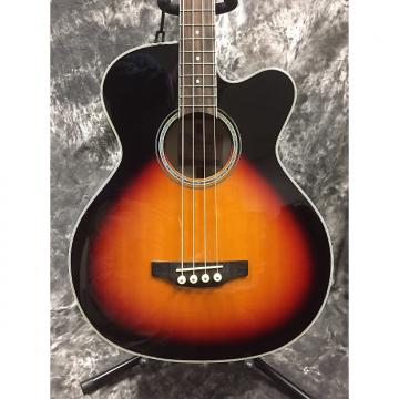 Custom Takamine GB72CE Jumbo Acoustic/ Electric Bass - Brown Sunburst