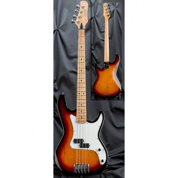 Custom Kiesel Carvin PB4 4 String Bolt Neck Classic Electric Bass Guitar 2017 Translucent Classic Sunburst