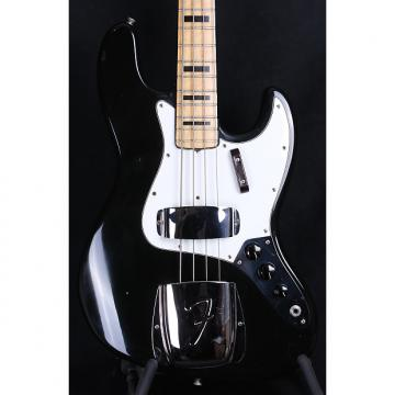 "Custom 1972 Fender USA Jazz Bass, BLACK / MAPLE - ""Geddy Lee"" w/ OHSC!"