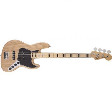 Custom Fender American Deluxe Jazz Basså¨ Ash, Maple Fingerboard, Natural, 3-Ply B/W/B Pickguard 0194582721