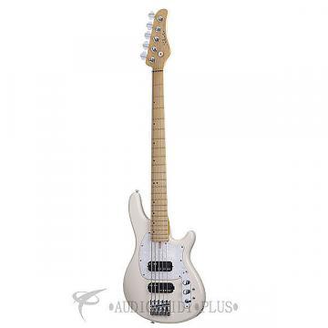 Custom Schecter CV-5 Maple Fretboard Electric Bass Ivory - 2495 - 815447023532