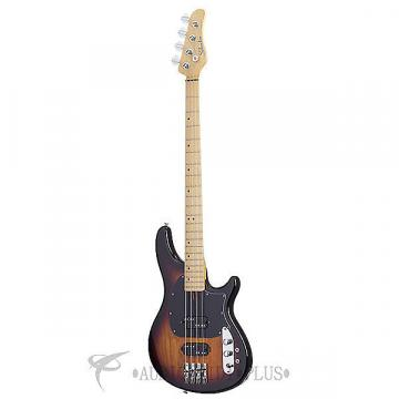Custom Schecter CV-4 Maple Fretboard Electric Bass 3-Tone Sunburst - 2491 - 815447023549