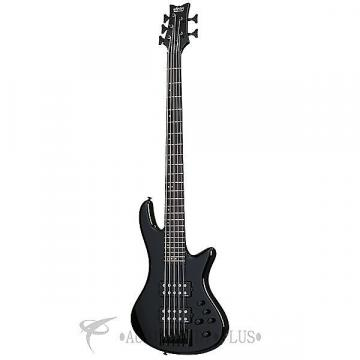 Custom Schecter Stiletto Stage-5 Ebony Fretboard Electric Bass Black Gloss - 2483 - 815447023631