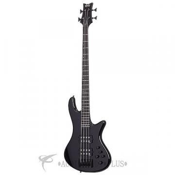 Custom Schecter Stiletto Stage-4 Ebony Fretboard Electric Bass Gloss Black - 2481 - 815447023600