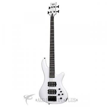 Custom Schecter Stiletto Stage-4 Ebony Fretboard Electric Bass Gloss White - 2480 - 815447023594