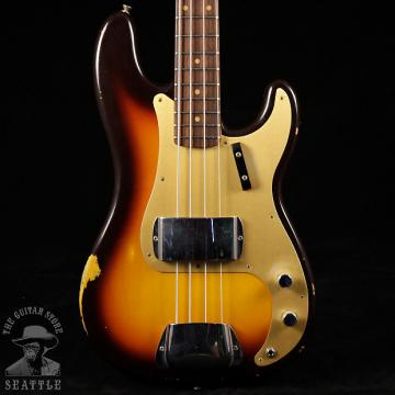 Custom Fender Custom Shop '59 Relic Precision Bass Faded Chocolate Three Tone Sunburst