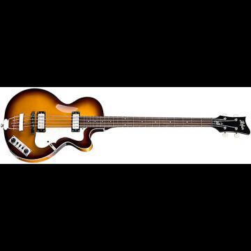 Custom NEW HOFNER IGNITION CLUB BASS, SUNBURST W/CASE