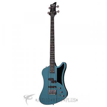 Custom Schecter Sixx Bass Rosewood Fretboard Bass Guitar Pelham Blue - 265- 815447021958