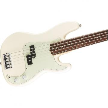 Custom Fender American Professional Precision V 5-String Bass, Olympic White, Rosewood Board - 0194650705