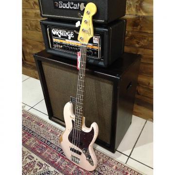 Custom Fender Flea Signature Roadworn Jazz Bass  ShellPink