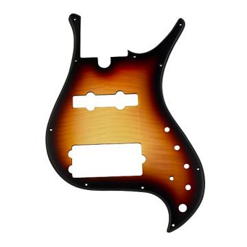 Custom Pickguard for Brubaker MJX 5 String- Tobacco Burst