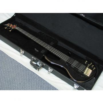 Custom DEAN Edge Pro 5-string BASS guitar Trans Black new w/ HARD CASE - Flame Maple