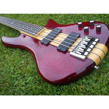 Custom Schecter Stiletto Elite 5 See Thru Cherry 2011 including original Schecter hard case