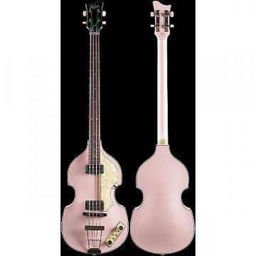 Custom Hofner Custom Shop Violin Bass Vintage '62 Shell Pink