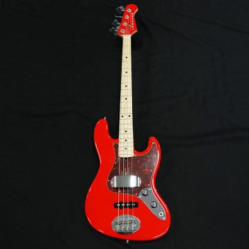 Custom Lakland USA 44-60 Fiesta Red 4 String Jazz Bass  Ships With FREE Tech 21 Bass Fly Rig
