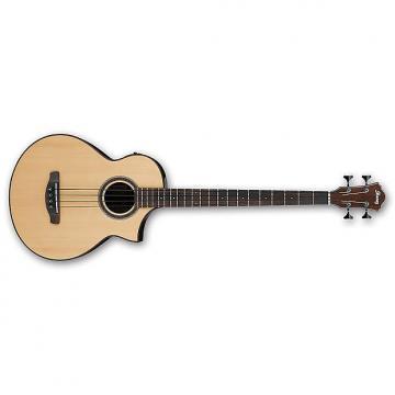 Custom Ibanez AEWB20 4-String Acoustic Bass Guitar Single Cutaway Natural High Gloss