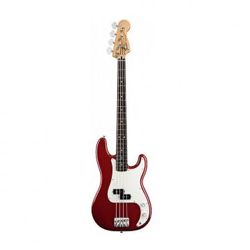 Custom Fender Standard Precision Bass Guitar in Candy Apple Red