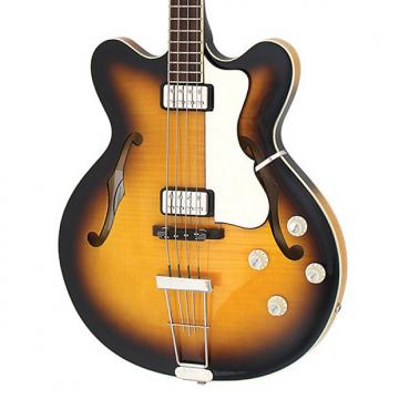 Custom Hofner HCT Verythin Bass - Sunburst - Short Scale 2 Color Sunburst Hollow Archtop