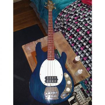 Custom Jay Turser  JTB 440 Stingray Bass with custom Fender Walnut/Padauk neck!  Blue