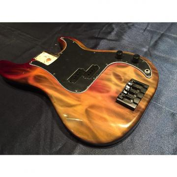 Custom Fender P Flames