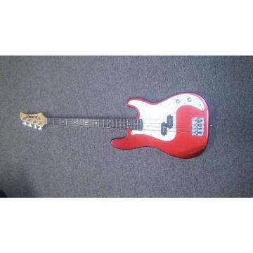 Custom Hamer Slammer Series Metallic Red 4-String Bass w/Pearloid Pickguard