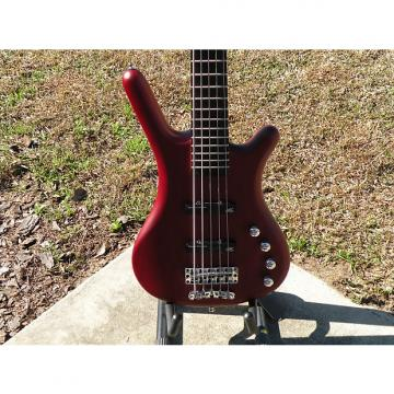 Custom Warwick Rockbass Corvette Basic Passive 5 String Burgundy Amazing Action