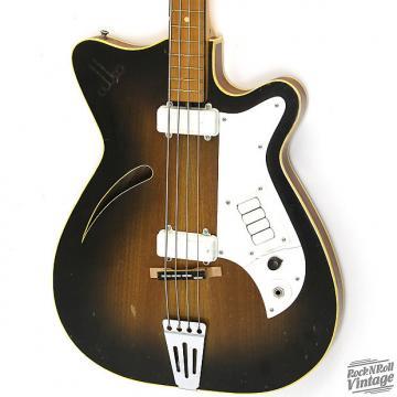 Custom 1960's Alko Hollowbody Bass Sunburst