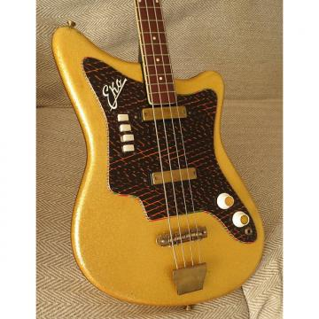 Custom 1960s Eko  1001 Electric Bass Guitar Gold Sparkle  Finish Made in Italy