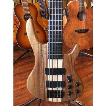 Custom Wolf WHIB-5W 2017 jazz bass neck through  NAMM Natural