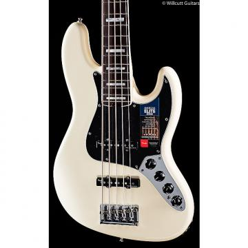 Custom Fender American Elite Jazz Bass V Olympic White (972)