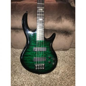 Custom Carvin IC4 2015 Green Flamed Maple 4 string bass guitar