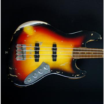 Custom Fender  Custom Shop Jaco Pastorius Relic Fretless Jazz Bass 2010 3-Color Sunburst Relic
