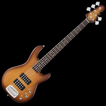 Custom G&L L2500 Tribute 5 String Bass, Tobacco Sunburst, Rosewood